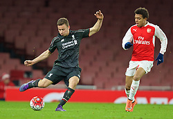 LONDON, ENGLAND - Friday, March 4, 2016: Liverpool's Herbie Kane in action against Arsenal during the FA Youth Cup 6th Round match at the Emirates Stadium. (Pic by Paul Marriott/Propaganda)