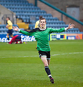 Connor McLeod celebrates after scoring Dundee's opener - Dundee v Forth Valley, Scottish Schools FA Senior Cup Final at Dens Park..© David Young - 5 Foundry Place - Monifieth - DD5 4BB - Telephone 07765 252616 - email: davidyoungphoto@gmail.com - web: www.davidyoungphoto.co.uk