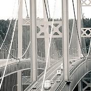 the Tacoma Narrows Bridge - Tacoma, WA