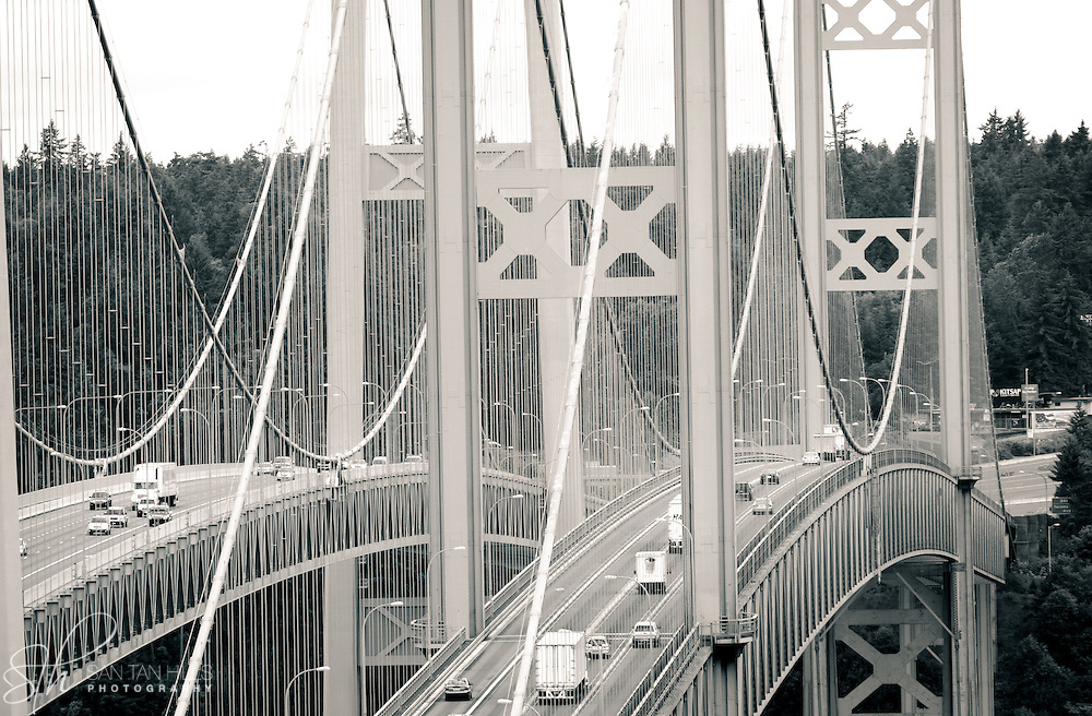 the Tacoma Narrows Bridge - Tacoma, WA
