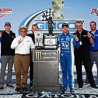 May 07, 2017 - Talladega, Alabama, USA: Ricky Stenhouse Jr. (17) takes photos after winning the GEICO 500 at Talladega Superspeedway in Talladega, Alabama.