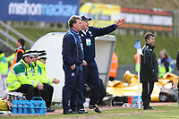 Brighton and Hove Albion Manager Russell Slade points out some changes to his assistant Dean White<br /> Brighton and Hove Albion vs Yeovil Town at the Withdean Stadium Brighton. Coca Cola Football League One. 14/03/2009<br /> Credit Colorsport / Shaun Boggust