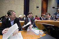 Nederland. Rotterdam, 1 maart 2007.<br /> Het vierde kabinet Balkenende legt in de Tweede kamer de regeringsverklaring af. Bos, Balkenende en Rouvoet nadat Balkenende de verklaring heeft afgelegd. Na de lunchpauze volgt het debat met de Tweede kamer.<br /> Foto Martijn Beekman <br /> NIET VOOR TROUW, AD, TELEGRAAF, NRC EN HET PAROOL