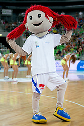 Mascot during basketball match between National teams of Slovenia and France in Quarterfinal Match of U20 Men European Championship Slovenia 2012, on July 20, 2012 in SRC Stozice, Ljubljana, Slovenia. (Photo by Matic Klansek Velej / Sportida.com)