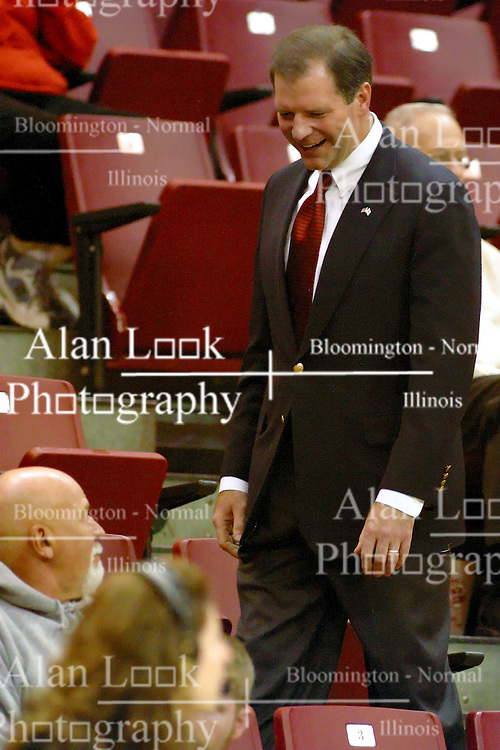 11 February 2006:  ..State Senator and candidate for Governor of Illinois, Bill Brady works the crowd at Redbird Arena...Illinois State Redbirds fall to the Bradley Braves at home in Redbird Arena in Normal Illinois.