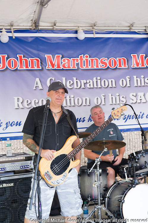 19 Sep 2015 Staten Island, New York US // 90's Alt Rock plays for the  members and families at the 8th annual Lt. John Martinson Memorial Picnic //  Michael Glenn  /   for the FDNY