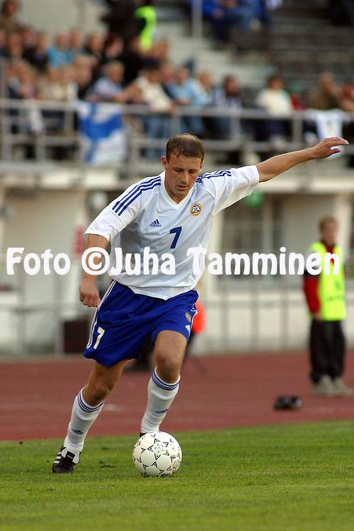 22.05.2002, Olympic Stadium, Helsinki, Finland..Friendly International match, Finland v Latvia..Mika Nurmela - Finland.©Juha Tamminen