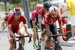July 20, 2018 - Valence, FRANCE - Belgian Dimitri Claeys of Cofidis and Belgian Thomas De Gendt of Lotto-Soudal pictured in action during the 13th stage in the 105th edition of the Tour de France cycling race, from Bourg d'Oisans to Valence (169,5 km), France, Friday 20 July 2018. This year's Tour de France takes place from July 7th to July 29th. BELGA PHOTO YUZURU SUNADA - FRANCE OUT (Credit Image: © Yuzuru Sunada/Belga via ZUMA Press)