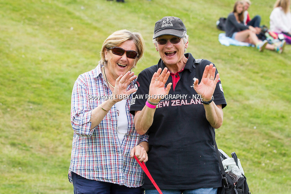A very happy Owner: Mrs Anne Cory with Andrea Raves: NZL-Vanessa Way (DON ARCHIE) FINAL-3RD: Dressage Delux FEI CDI Intermediate I: 2014 GBR-Hartpury Festival Of Dressage:  (Saturday 12 July) CREDIT: Libby Law COPYRIGHT: LIBBY LAW PHOTOGRAPHY - NZL