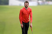 Michael Carrick eying up a shot during the Celebrity Pro-Am day at Wentworth Club, Virginia Water, United Kingdom on 23 May 2018. Picture by Phil Duncan.