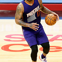 31 October 2016: Phoenix Suns forward P.J. Tucker (17) dribbles during the Los Angeles Clippers 116-98 victory over the Phoenix Suns, at the Staples Center, Los Angeles, California, USA.