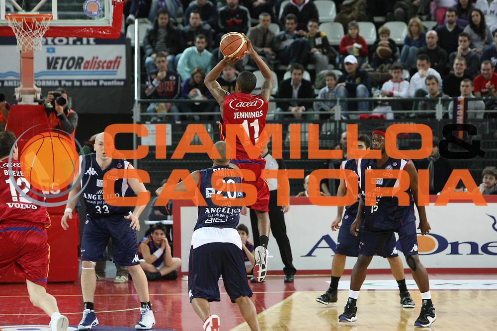 DESCRIZIONE : Roma Lega A1 2008-09 Lottomatica Virtus Roma Angelico Biella<br /> GIOCATORE : Brandon Jennings<br /> SQUADRA : Lottomatica Virtus Roma <br /> EVENTO : Campionato Lega A1 2008-2009<br /> GARA : Lottomatica Virtus Roma Angelico Biella<br /> DATA : 08/02/2009<br /> CATEGORIA : Tiro<br /> SPORT : Pallacanestro<br /> AUTORE : Agenzia Ciamillo-Castoria/C.De Massis