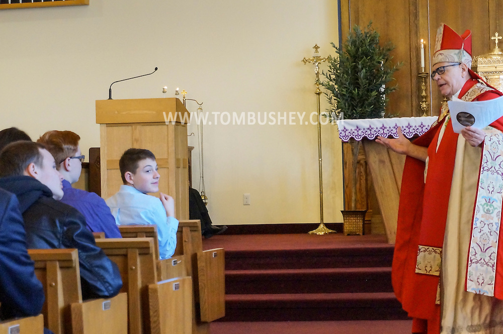 Raymond Bushey confirmation at St. Mary's Church in Washingtonville on March 7, 2015.