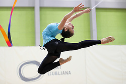at practice of Slovenian Rhythmic Gymnastics Team before 36th European Rhythmic Gymnastics Championships in Budapest - Hungary, on May 15, 2017 in Gimnasticna dvorana, Ljubljana, Slovenia. Photo by Matic Klansek Velej / Sportida