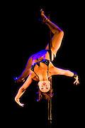 Lundi 14 Septembre 2009. Paris, France..Premiere competition Officielle de Pole Dance en France..20eme Theatre (Paris 20eme)..Linda Vong Dara
