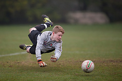 CARDIFF, WALES - Thursday, March 15, 2012: Wales U16's Luke Pilling (Tranmere Rovers FC & University Academy) during a training session at the Glamorgan Sports Park. (Pic by David Rawcliffe/Propaganda)