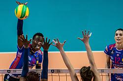 18-05-2019 GER: CEV CL Super Finals Igor Gorgonzola Novara - Imoco Volley Conegliano, Berlin<br /> Igor Gorgonzola Novara take women's title! Novara win 3-1 / Paola Ogechi Egonu #18 of Igor Gorgonzola Novara