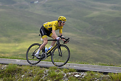 July 25, 2018 - Saint Lary Soulan, France - SAINT-LARY-SOULAN COL DU PORTET, FRANCE - JULY 25 : THOMAS Geraint (GBR) of Team SKY during stage 17 of the 105th edition of the 2018 Tour de France cycling race, a stage of 65 kms between Bagneres-de-Luchon and Saint-Lary-Soulan Col Du Portet on July 25, 2018 in Saint-Lary-Soulan Col Du Portet, France, 25/07/2018 (Credit Image: © Panoramic via ZUMA Press)