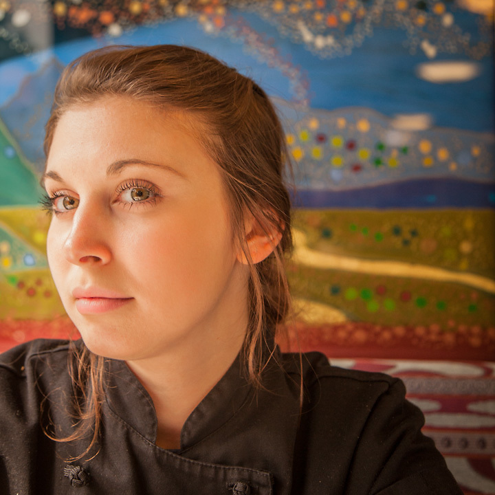 Prep Cook Jade Hermon on the Alaska Railroad enroute from Anchorage to Fairbanks  jadeherman6@hotmail.com