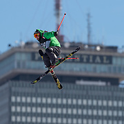 BOSTON, MA - FEBRUARY 12: Igor Lastei of Italy completes in the qualifying round of the Polartec Big Air event at Fenway Park on February 12, 2016 in  Boston, Massachusetts. (Photo by Michael Ivins/Boston Red Sox/Getty Images)
