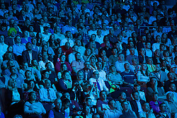 © Licensed to London News Pictures . 03/07/2014 . Leeds , UK . The crowd in the venue . Tour de France Team Presentation in front of a live audience of 10,000 people at the Leeds Arena and worldwide TV audience in excess of 300 million . Photo credit : Joel Goodman/LNP