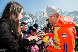 Alexander Stoeckl, coach of Norway with fans after the trophy ceremony after Ski Flying Hill Individual Competition at Day 4 of FIS Ski Jumping World Cup Final 2016, on March 20, 2016 in Planica, Slovenia. Photo by Vid Ponikvar / Sportida