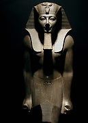 Thutmose III or Tuthmosis III. King of Egypt Basalt statue, Luxor Museum.  As sixth Pharaoh of the Eighteenth Dynasty he was also co-regent with his aunt, Hatshepsut. he reigned 1479 BC to 1425 BC.