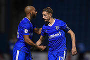 Gillingham FC forward Josh Parker (14) and Gillingham FC midfielder Lee Martin (11) during the The FA Cup match between Gillingham and Leyton Orient at the MEMS Priestfield Stadium, Gillingham, England on 4 November 2017. Photo by Martin Cole.