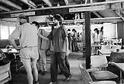 Michael Eavis in Goose Hall. Glastonbury, Somerset,1989.