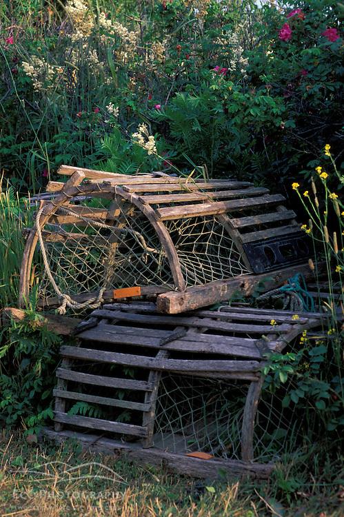 Monhegan Island, ME. Lobster Traps.
