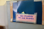 RCOG volunteer, Doctor Kim MacLeod  suggested using red stickers to mark patient files and she put up a white board so that we could quickly track the situation on the wards. These systems are helping to monitor high risk mothers who are critically ill.