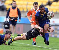 Otago's Jona Nareki against Wellington in the Mitre 10 Rugby match at Westpac Stadium, Wellington, New Zealand, Sunday October 01,, 2017. Credit:SNPA / Ross Setford  **NO ARCHIVING**