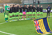 Minutes silence during the The FA Cup match between Forest Green Rovers and Billericay Town at the New Lawn, Forest Green, United Kingdom on 9 November 2019.