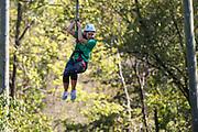 Lexi Mace ziplines at The Ridges on Parents Weekend. Photo by Hannah Ruhoff