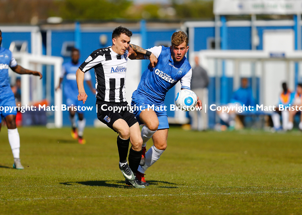 APRIL 29:  Margate FC against Maidenhead United FC  in Conference South at Hartsdown Park in Margate, England. Maidenheads dave tarpley fires in United second goal. (Photo by Matt Bristow/mattbristow.net)