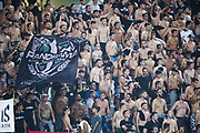 THESSALONIKI, GREKLAND - AUGUSTI 17: Fans of PAOK Saloniki FC under UEFA Europa League Qualifying Play-Offs round first leg match mellan PAOK Saloniki och &Ouml;stersunds FK p&aring; Toumba Stadium, August 17, 2017 i Thessaloniki, Grekland. Foto: Nils Petter Nilsson/Ombrello<br /> ***BETALBILD***