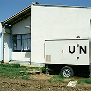 A UN health center in the serbian enclave in Kosovo.  This is the only health center providing for the serbian population in the enclave.  It is supported by Greece and Russia funding under the wings of the UN.
