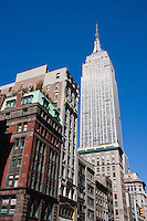 empire state building in New york City in October 2008