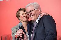 11 FEB 2017, BERLIN/GERMANY:<br /> Elke Buedenbender (L), Ehefrau von Steinmeier, und Frank-Walter Steinmeier (R), SPD, Kandidat fuer das Amt des Bundespraesidenten, waehrend einem Empfang der SPD anl. der Bundesversammlung, Westhafen Event und Convention Center<br />  IMAGE: 20170211-03-055<br /> KWYWORDS: Elke B&uuml;denbender