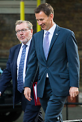 London, June 20th 2017. Scotland Secretary David Mundell and Health Secretary Jeremy Hunt attend the weekly cabinet meeting at 10 Downing Street in London.