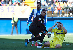 February 3, 2019 - Villarreal, Castellon, Spain - Daniele Bonera of Villarreal scores a own goal during the La Liga match between Villarreal and Espanyol at Estadio de la Ceramica on February 3, 2019 in Vila-real, Spain. (Credit Image: © Maria Jose Segovia/NurPhoto via ZUMA Press)