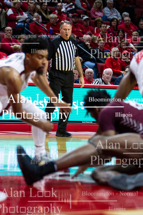 NORMAL, IL - November 10:  Gary Maxwell during a college basketball game between the ISU Redbirds and the Little Rock Trojans on November 10 2019 at Redbird Arena in Normal, IL. (Photo by Alan Look)