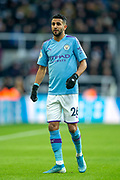 Riyad Mahrez (#26) of Manchester City during the Premier League match between Newcastle United and Manchester City at St. James's Park, Newcastle, England on 30 November 2019.