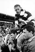 Kel Tremain celebrates victory when Hawkes Bay won the Ranfurly Shield in 1967. Photo: Photosport.co.nz