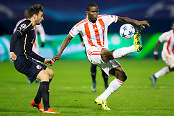 Alfred Finnbogason #9 of Olympiakos during football match between GNK Dinamo Zagreb and Olympiakos in Group F of Group Stage of UEFA Champions League 2015/16, on October 20, 2015 in Stadium Maksimir, Zagreb, Croatia. Photo by Urban Urbanc / Sportida