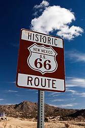 Historic Route 66 sign, Albuquerque, New Mexico, United States of America