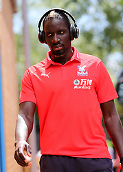 "Crystal Palaces Mamadou Sakho arrives at Madejski Stadium during the pre-season friendly match at the Madejski Stadium, Reading. PRESS ASSOCIATION Photo. Picture date: Saturday July 28, 2018. See PA story SOCCER Reading. Photo credit should read: Mark Kerton/PA Wire. RESTRICTIONS: EDITORIAL USE ONLY No use with unauthorised audio, video, data, fixture lists, club/league logos or ""live"" services. Online in-match use limited to 75 images, no video emulation. No use in betting, games or single club/league/player publications."