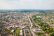Nederland, Limburg, Roermond, 27-05-2013;<br /> centrum en oostelijke deel, Bredeweg<br /> Overview Roermond.<br /> luchtfoto (toeslag op standard tarieven)<br /> aerial photo (additional fee required)<br /> copyright foto/photo Siebe Swart