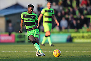 Forest Green Rovers Reece Brown(10) passes the ball forward during the EFL Sky Bet League 2 match between Forest Green Rovers and Morecambe at the New Lawn, Forest Green, United Kingdom on 17 November 2018.