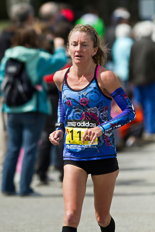 2013 Boston Marathon: Rachel Stanton, 43, AUS, races on course